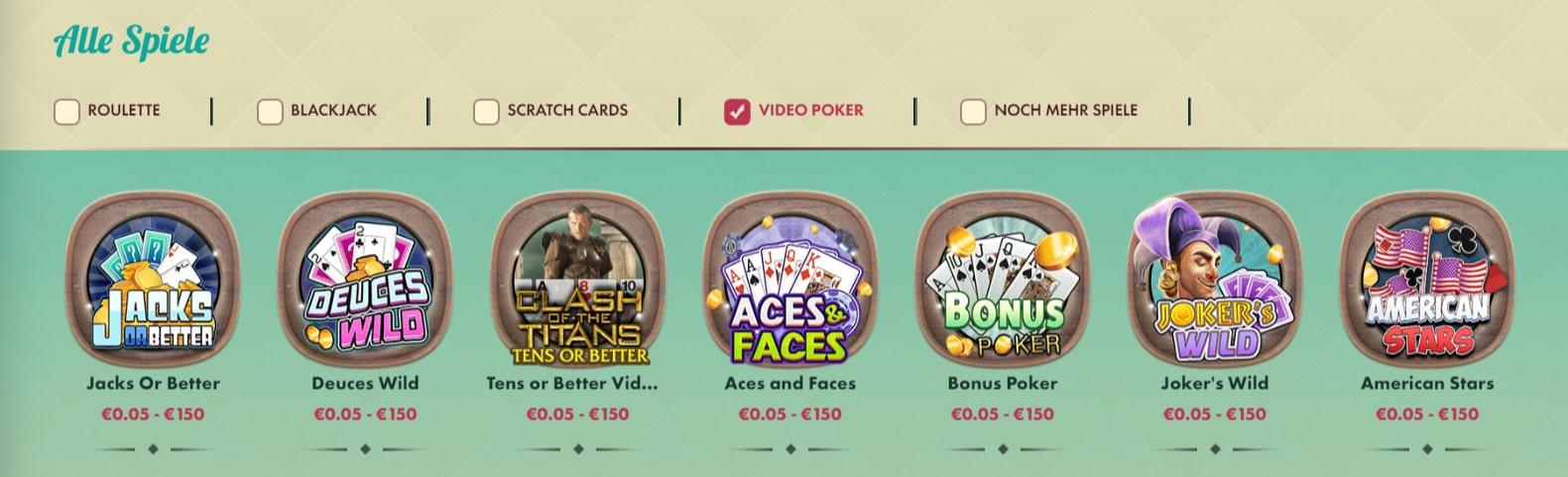 video poker bei 777 casino