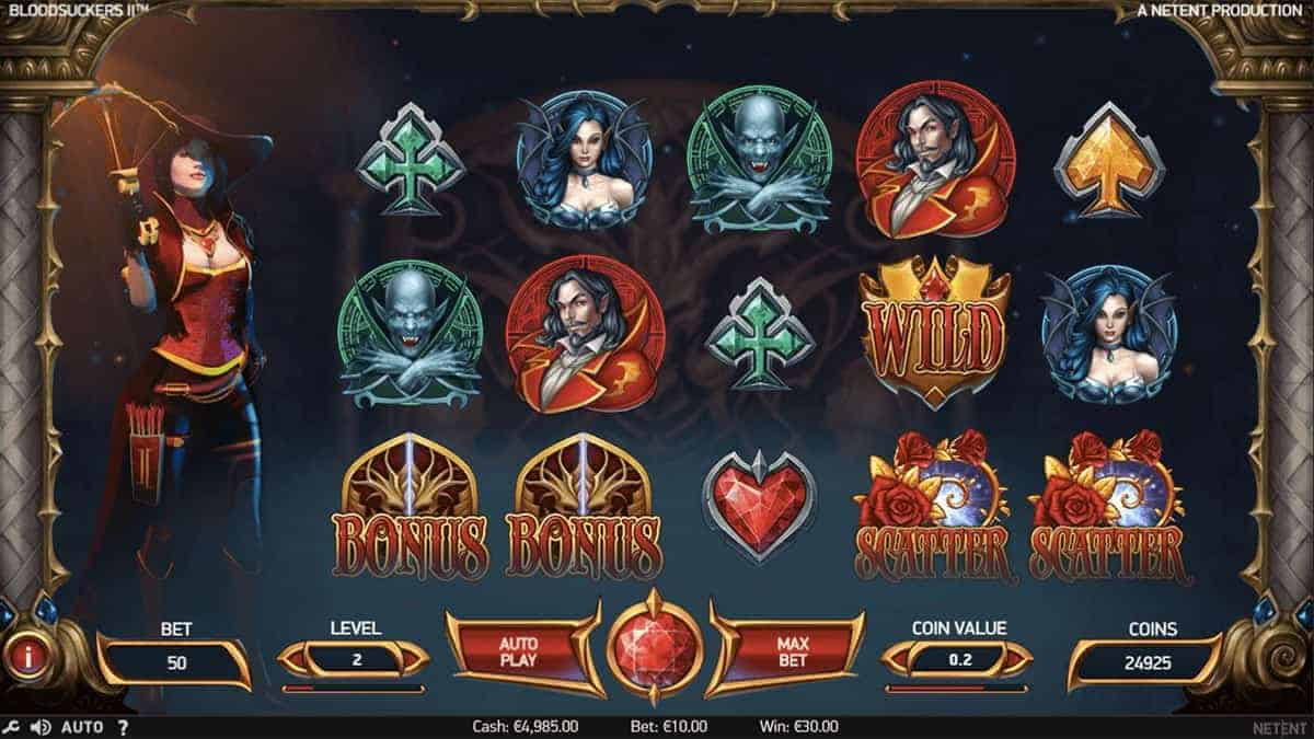 Bloosuckers 2 NetEnt Casino Slot