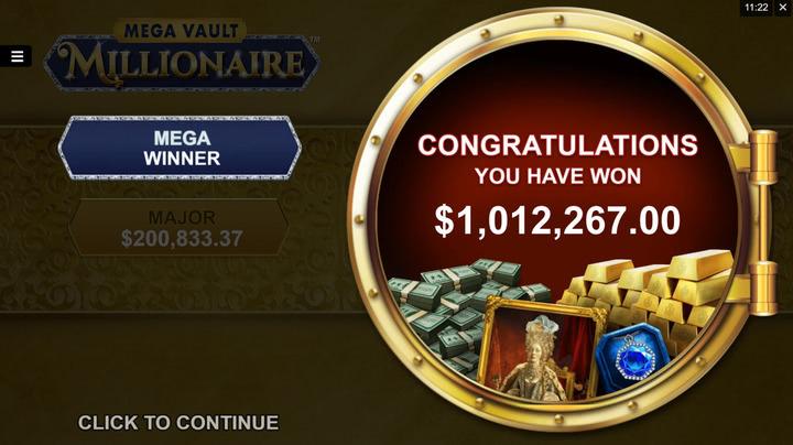 mega vault millionaire bonus vault