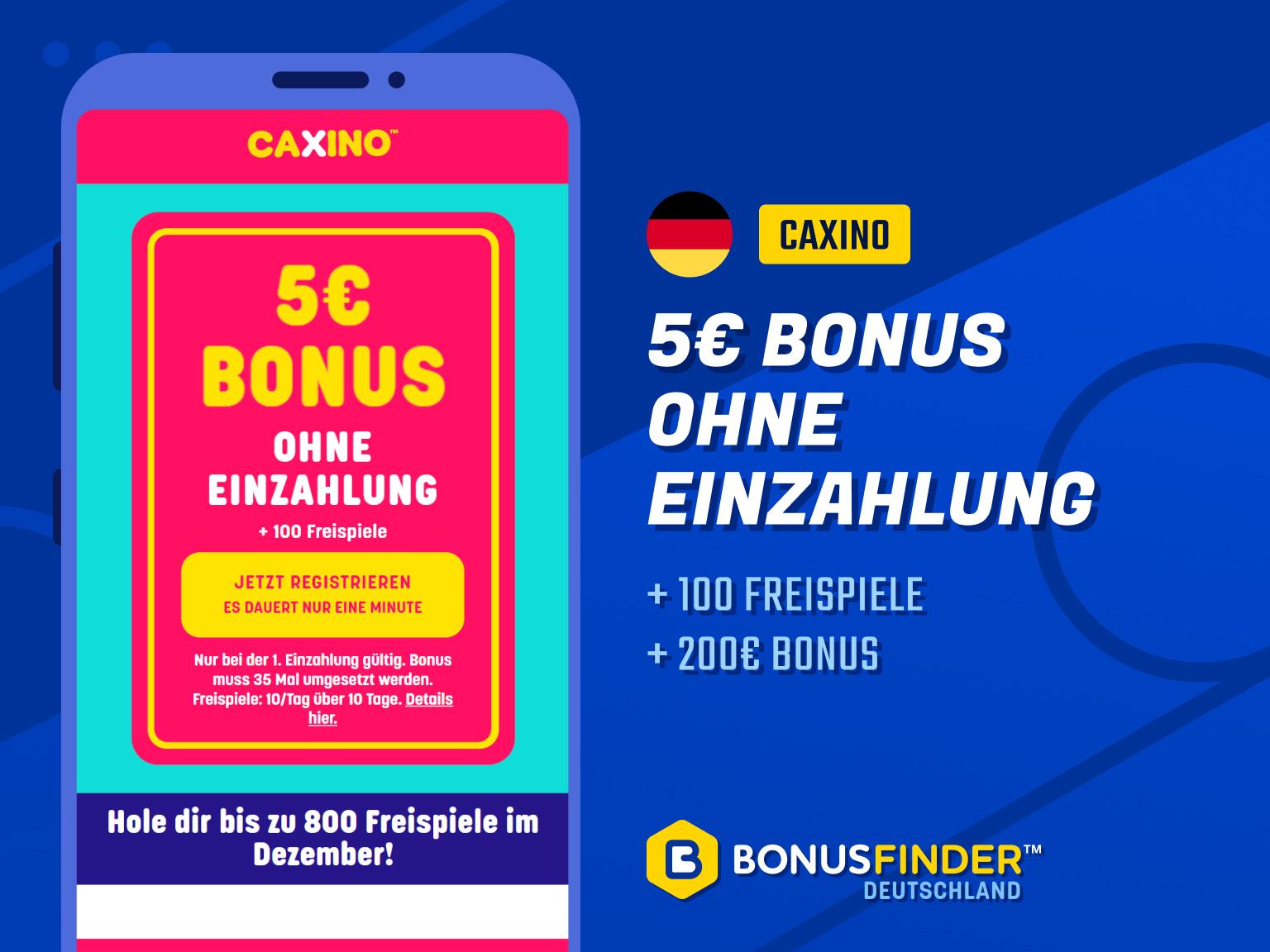 Caxino Bonus 2021 200 100 Freispiele 5 Bonus Ohne Einzahlung