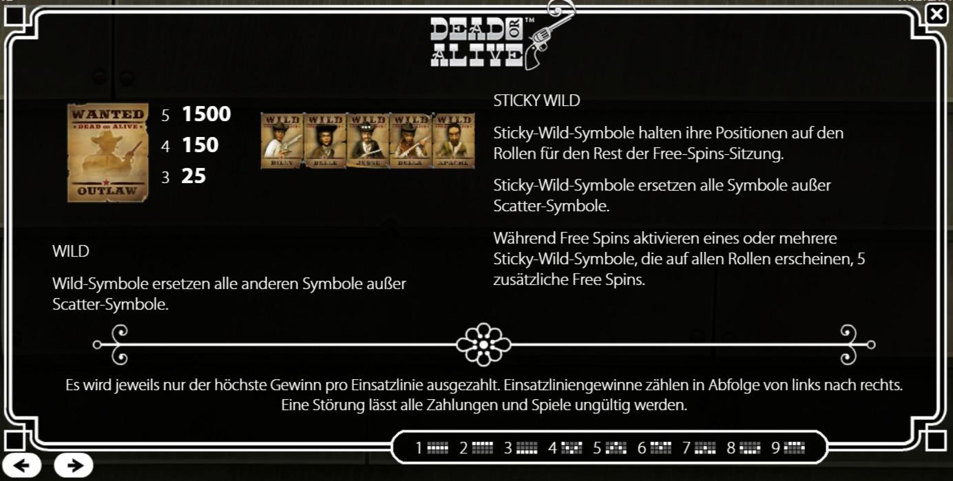 Dead or Alive Freispiele