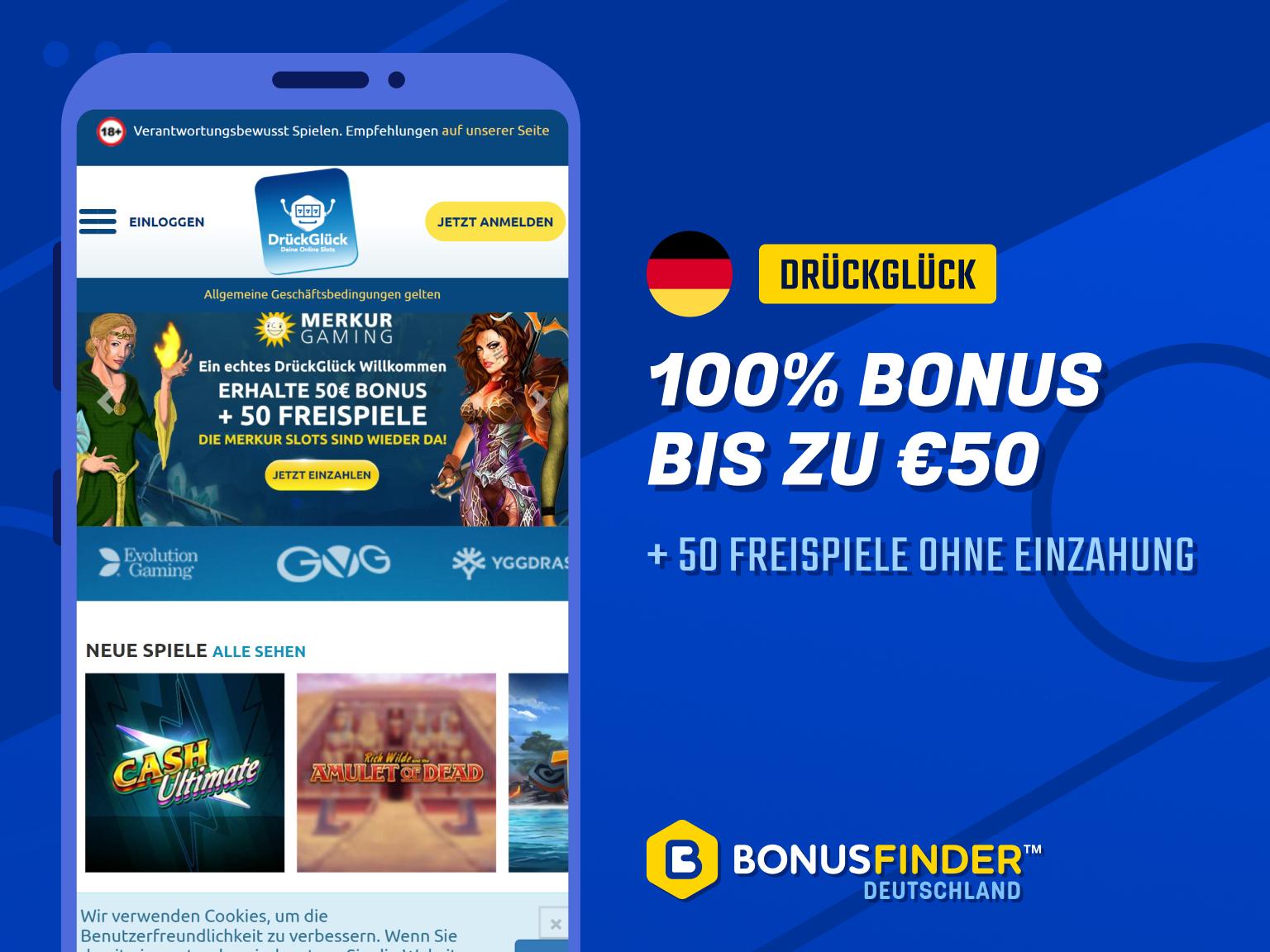 drückglück 10 euro einzahlen 60 euro spielen