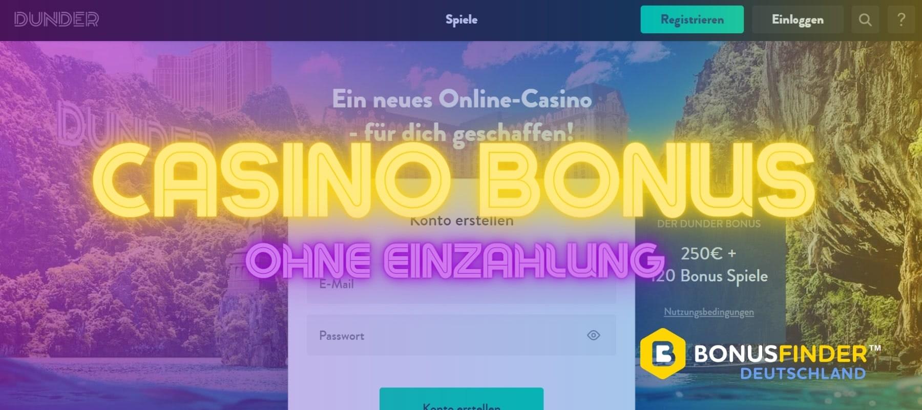 dunder casino bonus ohne einzahlung