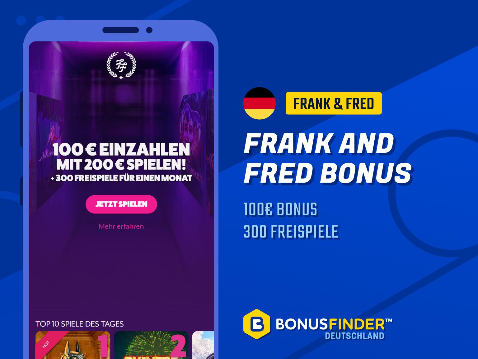 frank and fred casino bonus 2021