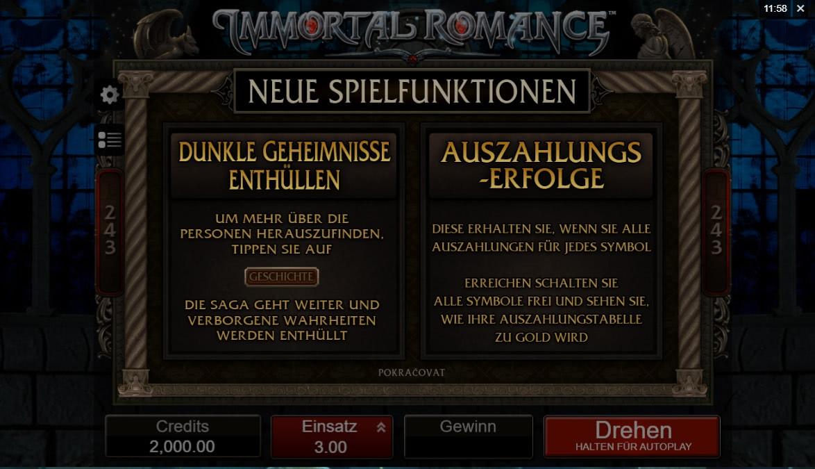 Immortal Romance Slot Bewertung Deutschland