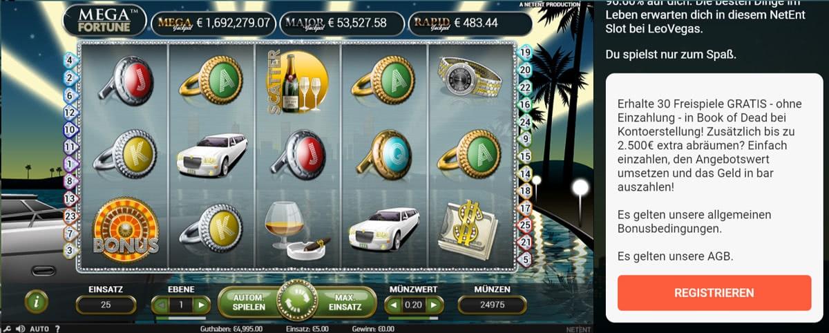 mega fortune slot bonus deutschland