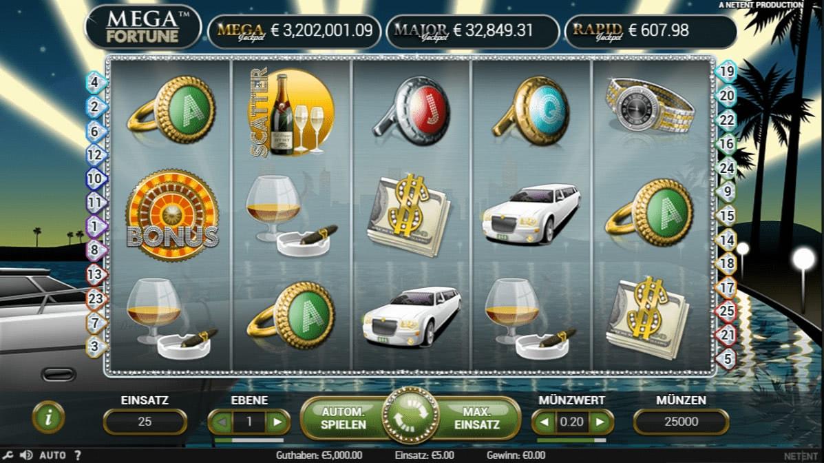 mega fortune casino bonus deutschland