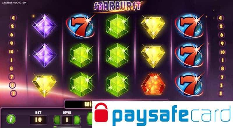 paysafecard starburst slot