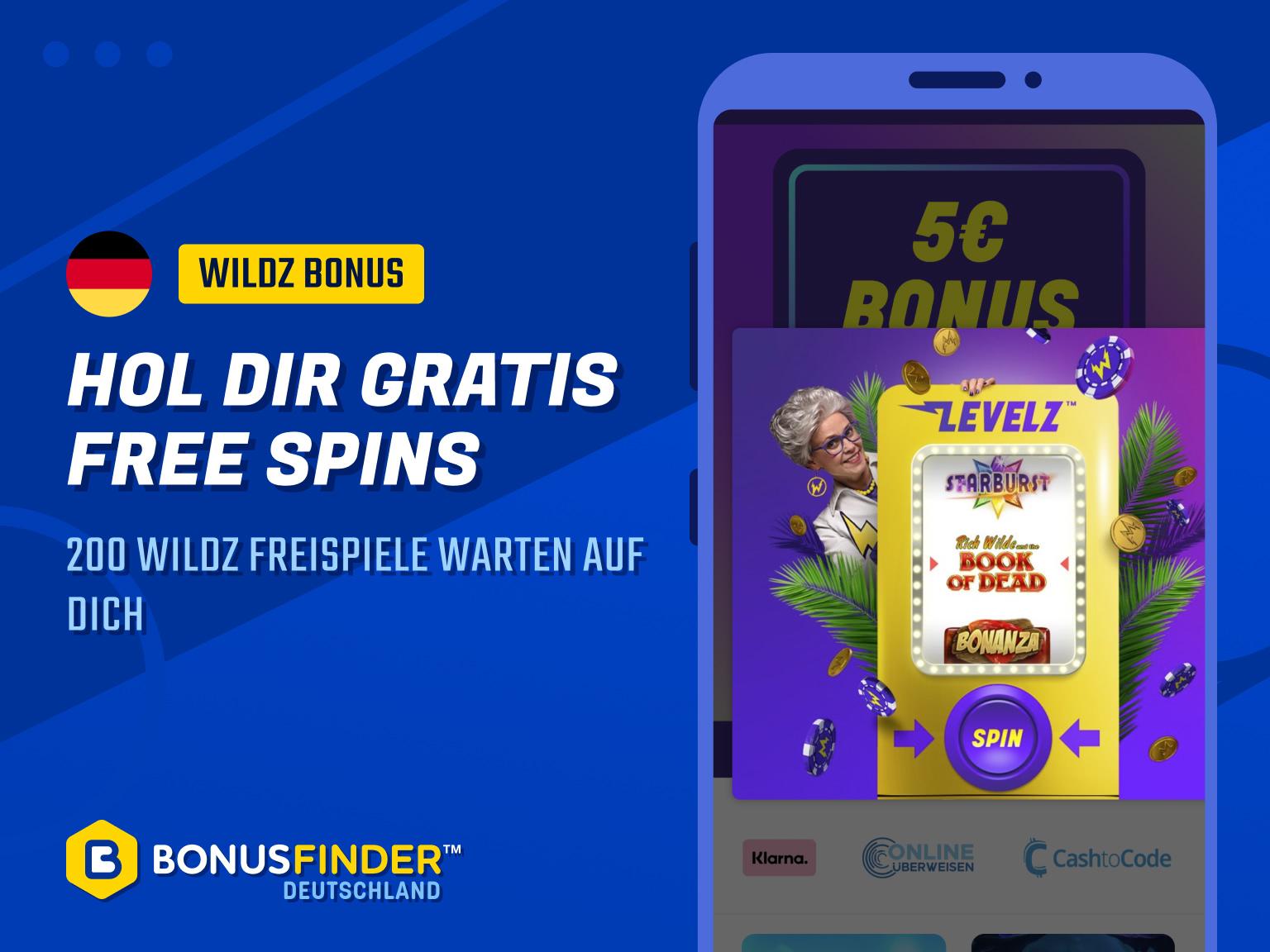 wildz free spins